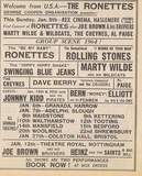 Advert for a 1960's pop show