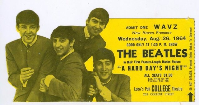 'A HARD DAY'S NIGHT' OPENS AT LOEW'S COLLEGE THEATER