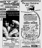 <p>From the November 18, 1971, edition of the Miami News. The film opened the following day for an exclusive run of many weeks at the Coral. With this clipping, the entire gamut of my moviegoing experience for the 1 year I lived in Miami is captured, between this Disney film and the Hammer Horror double feature at the drive-in shown in the upper left corner.</p>