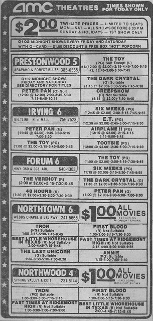 AMC Northwood 4 ad, January 2nd, 1983