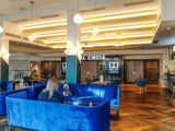 Odeon Leicester Square – 2018 Refurbishment – Circle Lounge - View to Circle Entrance.