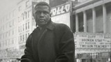 """[""""Sidney Poitier across from Times Square theater""""]"""