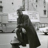 Sidney Poitier across from Victory theater 1959