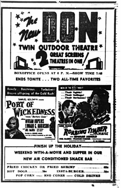1954 newspaper ad