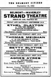 1922 Strand Schedule