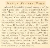 1925 Article Regarding Building of Capitol Theater