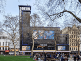 Odeon Leicester Square – Façade - Daytime from Opposite Side of LSQ Gardens.