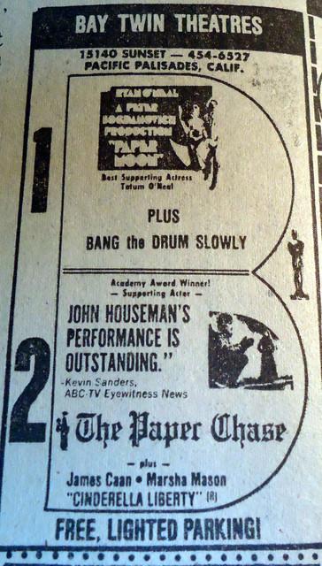 Bay Twin Theatre newspaper ad