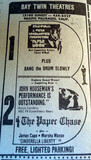Bay Twin Theatre newspaper ad