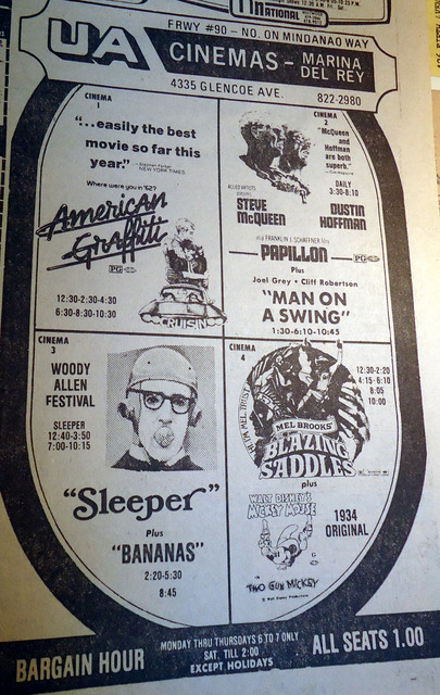 UA Marina Del Rey 6 Cinemas newspaper ad