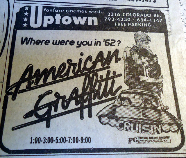 Uptown Theatre newspaper ad