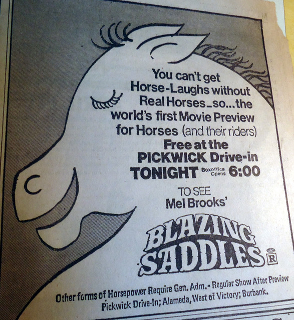 Pacific's Pickwick Drive-In &quot;Blazing Saddles&quot; event