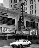 Burbank Theatre exterior during razing