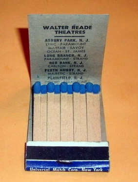 A Walter Reade Theatre matchbook cover