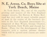 Land Purchased for York Beach Cinema (1926)