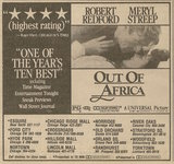 Ad from Monday, January 27, 1986 newspaper showing what was playing at Chicago Ridge Mall Theatre