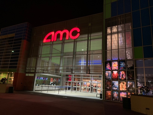 Exterior of Theater as AMC at Night