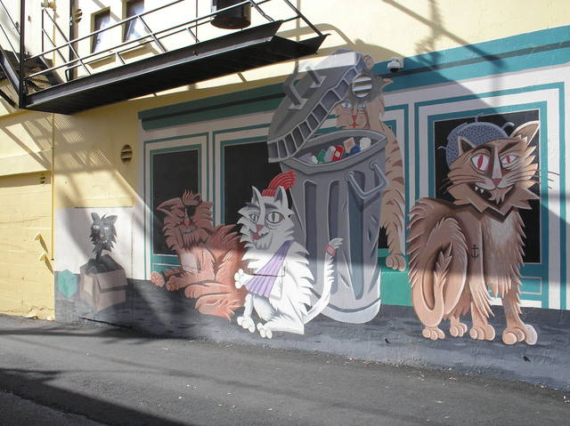 Mural on side of Arkley