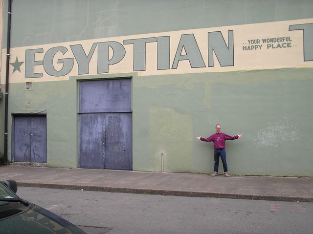 Egyptian back wall with Gary