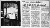 Closure of the Cal Theatre