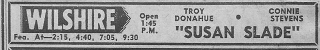 Wilshire Theater ad, Feb 23, 1962