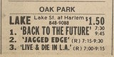 Ad from Chicago Sun-Times newspaper, Monday, January 27, 1986, showing what was playing at the Lake Theatre