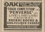 Ad from Chicago Sun-Times newspaper, Monday, January 27, 1986, showing what was playing at the Oak Theatre
