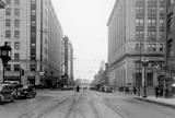 3rd Street, looking east from Brady Street, Davenport, February 11, 1938.
