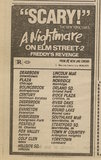 """[""""Ad from Chicago Sun-Times newspaper, Monday, January 27, 1986, showing what was playing at the Foxfield Theater""""]"""