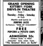 Ad for the opening of the Kittery-York Drive-In