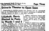 Article announcing opening of the Kittery-York Drive-In