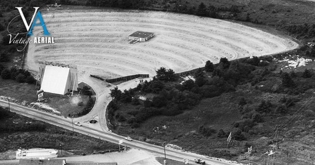 Aerial shot of the  Kittery-York Drive-In