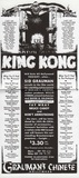 King Kong flyer at Chinese Theatre premiere