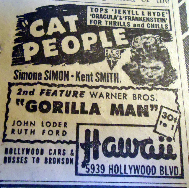 Hawaii Theatre newspaper ad