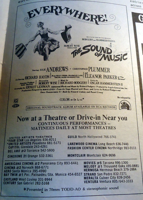 UA's Four Star Theatre newspaper ad