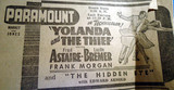 Paramount Theatre newspaper ad