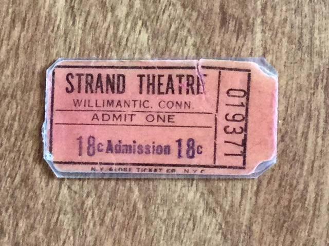 1950s ticket courtesy Rodney Coriarty.