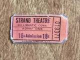 1950s ticket courtesy Rodney Coriarty‎.