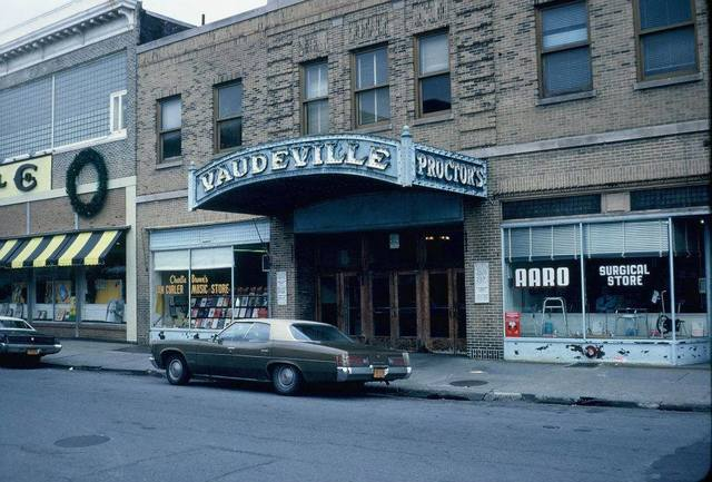 Back entrance to Proctor's Theatre on Smith Street, 1970s photo courtesy Steve Myers.