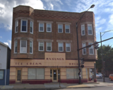 """[""""Was this Kunka Drug Store building the Loomis Theatre?""""]"""