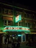 Arcade Theatre, Fort Myers, Florida, brighter night shot and other angle