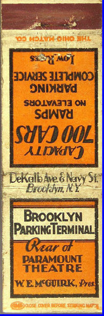 Brooklyn Paramount Theatre matchbook cover