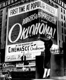 "[""OKlahoma!, CinemaScope version, comes to the Mayfair 1956""]"