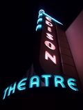 Edison Theatre neon close-up, Fort Myers, Florida