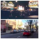 Underside of the Dattola marquee, 1946 then & now photo courtesy Matt Suzon.