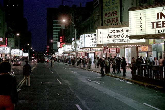 42nd Street entrance, 1975 photo credit Nick DeWolf.