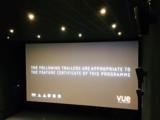 Vue Eltham - Auditorium 1 - Trailer Notice on Screen - House Lights Raised.