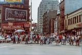 Billboard for the Rialto, Sheridan Square, Pride 1982 photo courtesy 70s/80s New York City Facebook page.