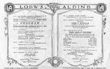 Loew's Aldine Theater Program