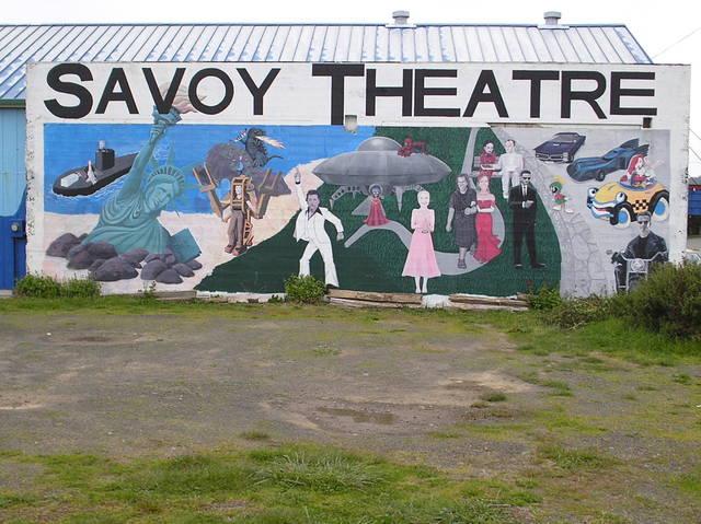 Wall next to Savoy